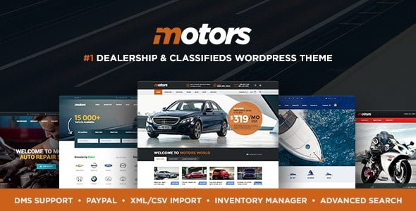 Motors – Car Dealer, Rental & Classifieds WordPress theme