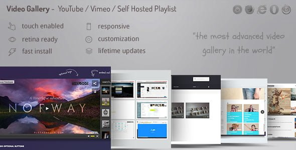 Video Gallery – YouTube, Vimeo, Facebook
