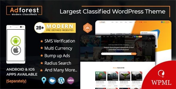 AdForest – Classified Ads WordPress Theme