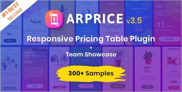 ARPrice – WordPress Pricing Table Plugin