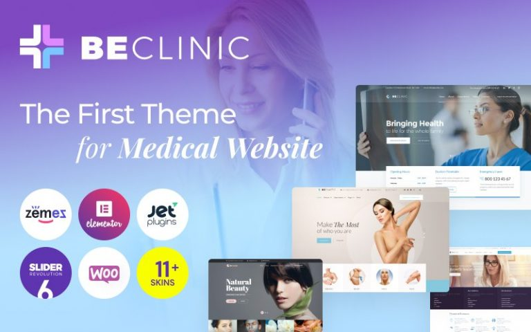 BeClinic – Multipurpose Medical WordPress Theme