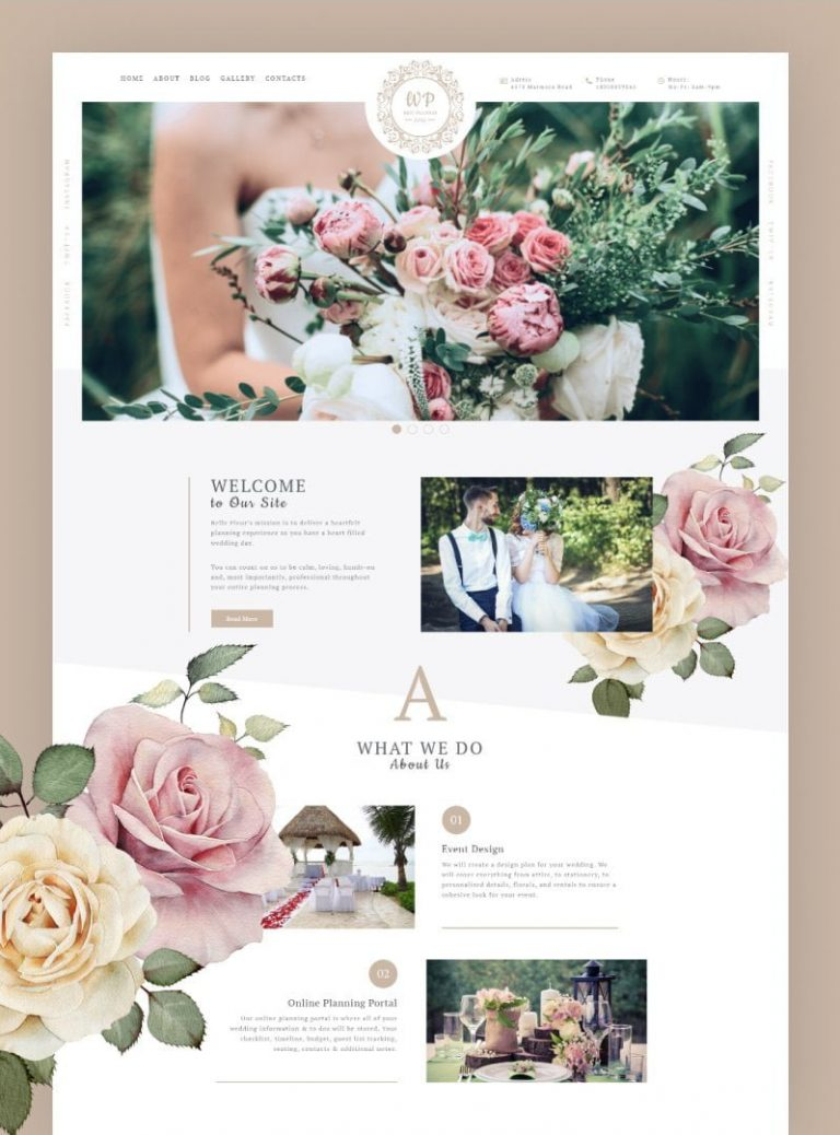 Belle Fleur – Wedding WordPress Theme