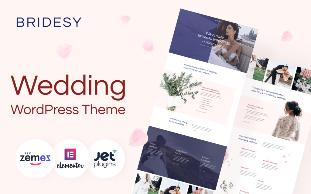 Bridesy - Tender And Neat Wedding WordPress Theme - screenshot