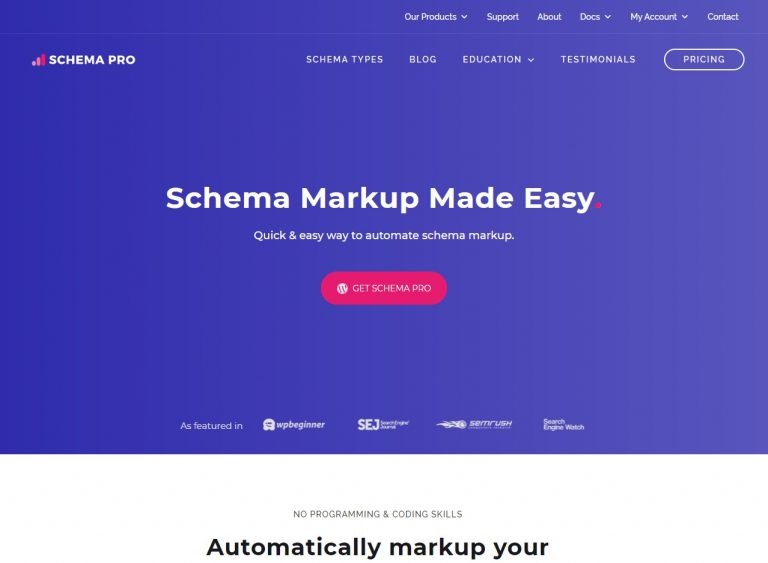 Schema Pro Wordpress Plugin
