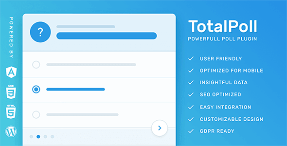 TotalPoll Pro – Responsive WordPress Poll Plugin