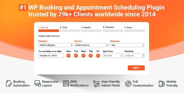 Bookly PRO – Appointment Booking and Scheduling