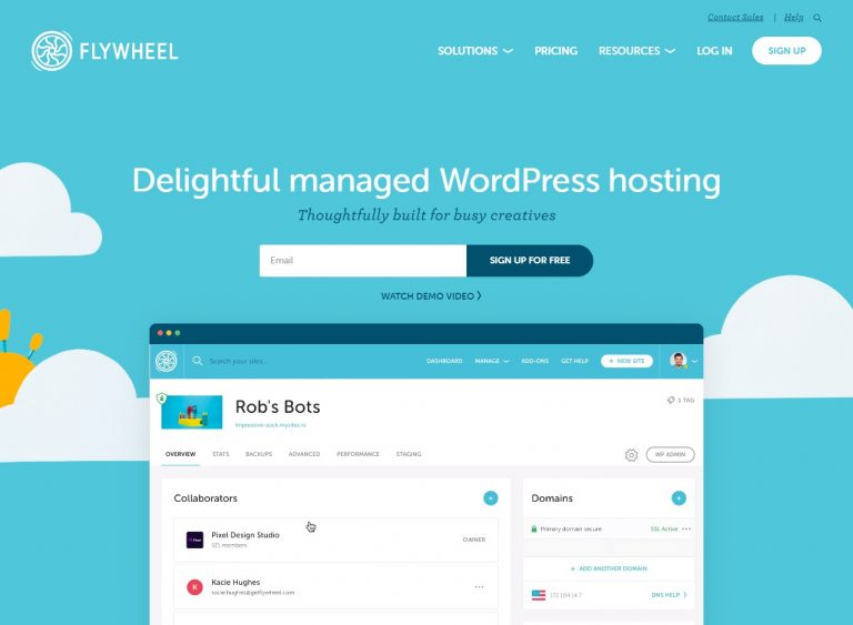 Flywheel Web Hosting