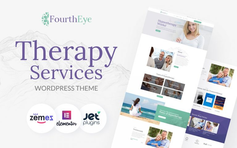 FourthEye - Therapy Services Multipurpose Classic Elementor WordPress Theme - screenshot