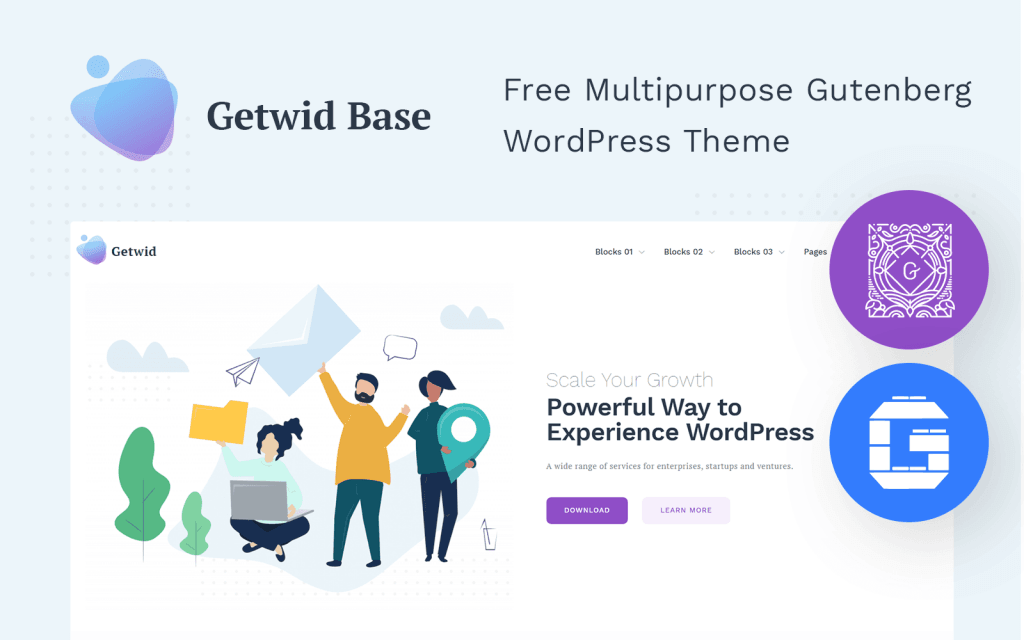 Getwid Base WordPress Theme - screenshot