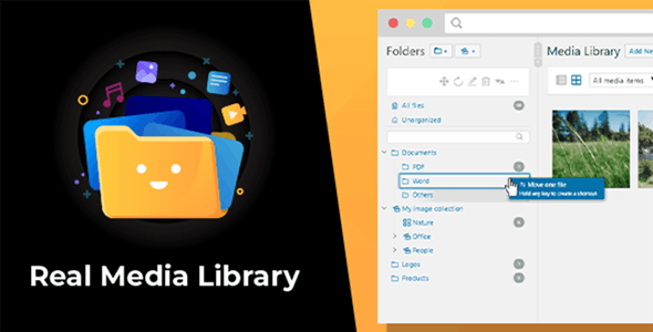 WordPress Real Media Library: Folder & File Manager for WordPress Media Management - CodeCanyon Item for Sale