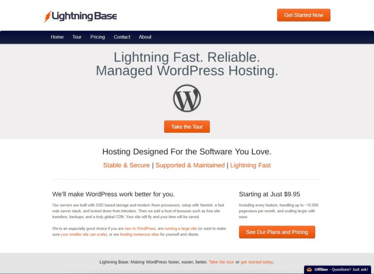 Lightning Base Web Hosting