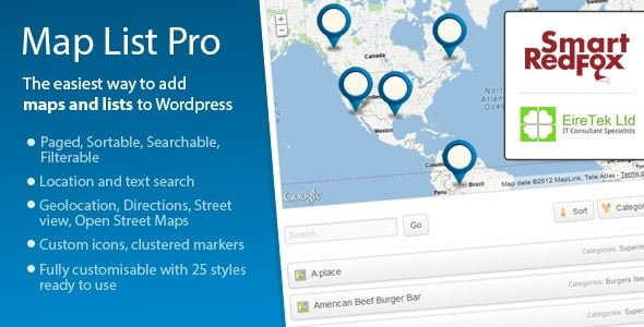 Map List Pro – Google Maps & Location Directories