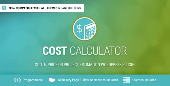 Cost Calculator WordPress - CodeCanyon Item for Sale