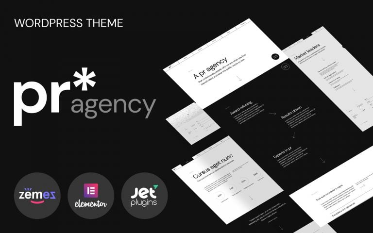 PR Agency - PR Agency Elementor-based WordPress Theme - screenshot