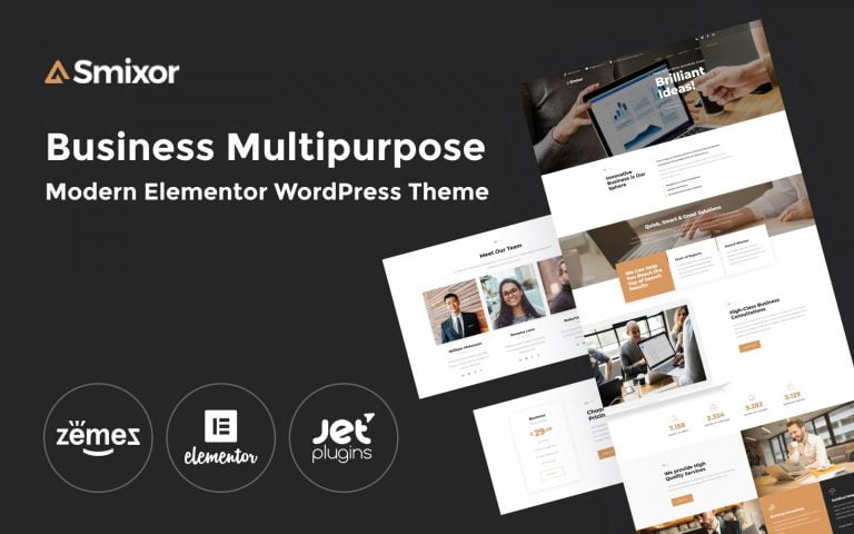 Smixor – Business Elementor WordPress Theme