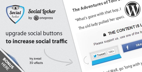 Social Locker for WordPress - CodeCanyon Item for Sale