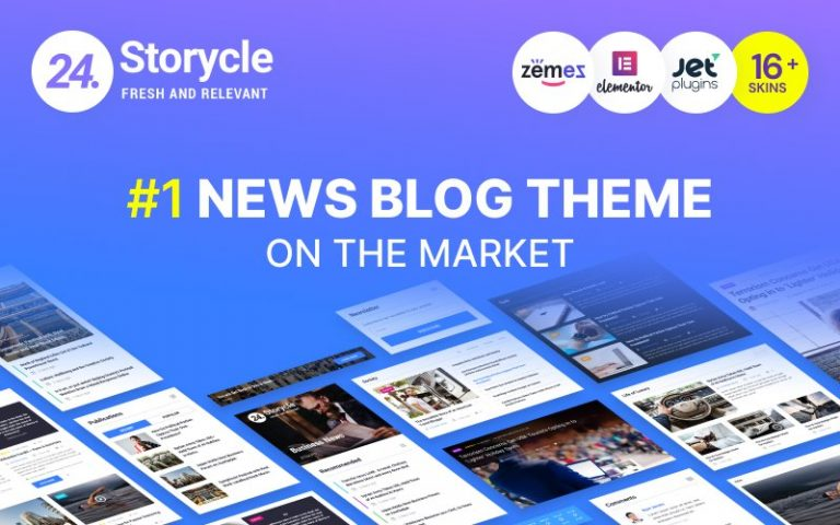 24.Storycle - Multipurpose News Portal Elementor WordPress Theme - screenshot